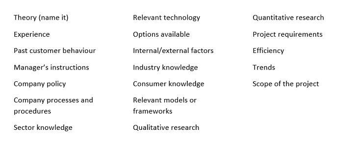 why factors